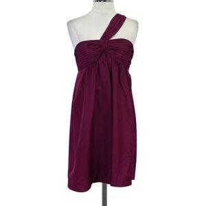 Bcbg one shoulder dress xs